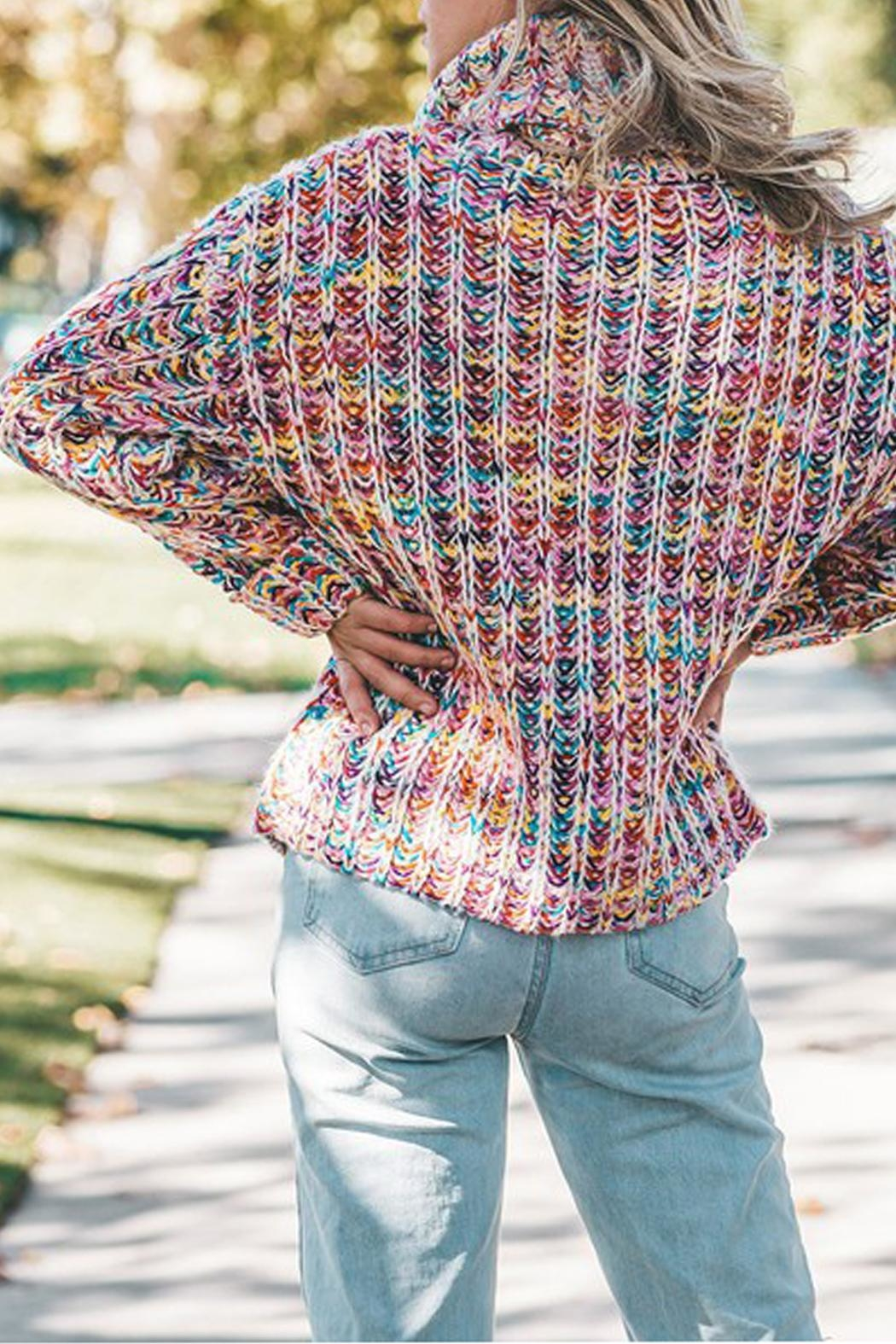 The Vintage Valet Colorful Knit Sweater - Front Full Image