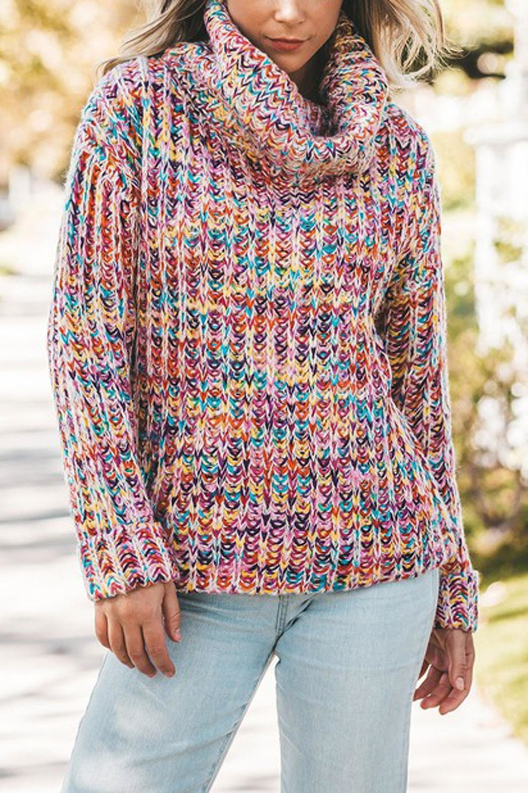 The Vintage Valet Colorful Knit Sweater - Main Image