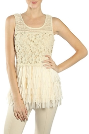 The Vintage Valet Crochet Fringe Tank - Product Mini Image