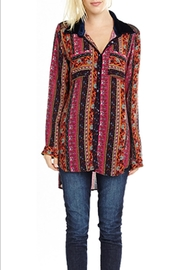 The Vintage Valet Embroidered Print Top - Front full body