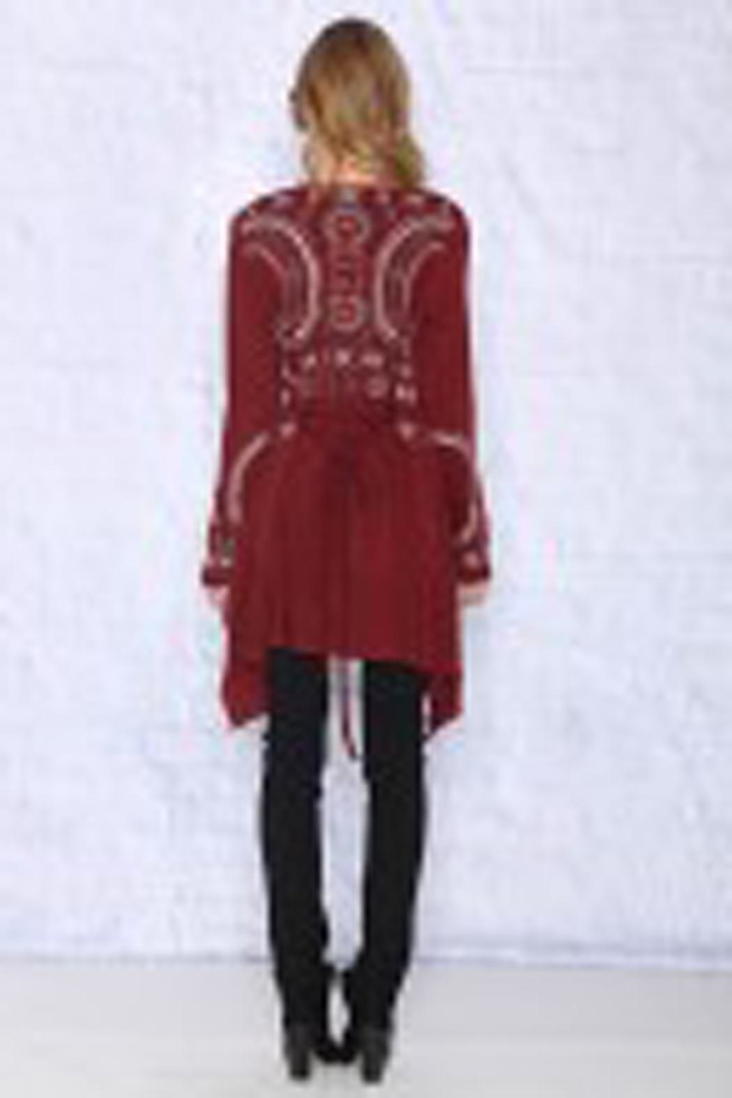 The Vintage Valet Fall Embroidered Cardigan - Front Full Image