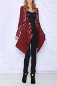 Shoptiques Product: Fall Embroidered Cardigan