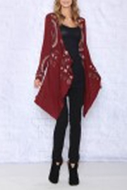 The Vintage Valet Fall Embroidered Cardigan - Product Mini Image