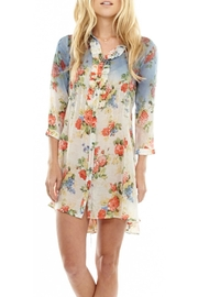 The Vintage Valet Floral Pleated Tunic - Product Mini Image