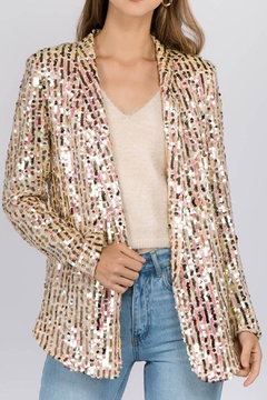 Shoptiques Product: Gold Sequin Blazer
