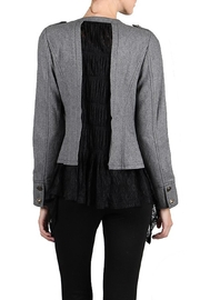 The Vintage Valet Gray Black Lace Jacket - Front full body