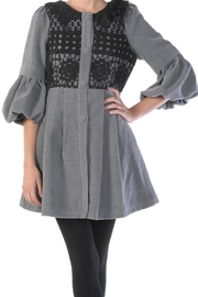 The Vintage Valet Gray Bubblesleeve Jacket - Front cropped