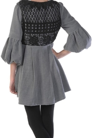 The Vintage Valet Gray Bubblesleeve Jacket - Front full body