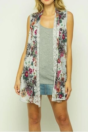 The Vintage Valet Gray Floral Vest - Product Mini Image
