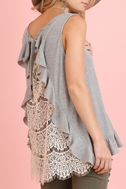 The Vintage Valet Gray Lace Tanktop - Product Mini Image