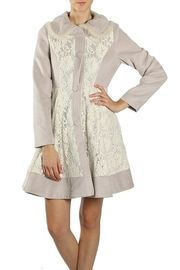 The Vintage Valet Grey Lace Jacket - Product Mini Image