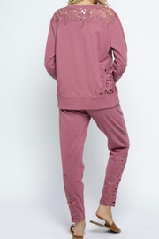 The Vintage Valet Mauve Loungewear Pants - Front full body
