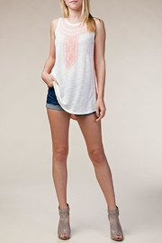 The Vintage Valet Peach Rhinestine Tank - Front cropped