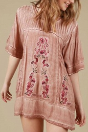 The Vintage Valet Pink Embroidered Top - Product Mini Image