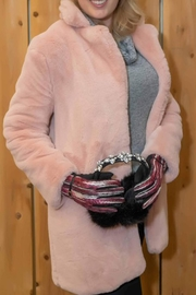 The Vintage Valet Pink Fauxfur Coat - Product Mini Image
