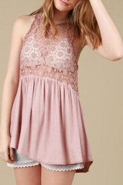 The Vintage Valet Pink Laceup Tank - Product Mini Image