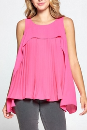 The Vintage Valet Pink Pleat Tank - Product Mini Image