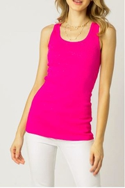The Vintage Valet Pink Rhinestone Tank - Front cropped