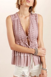 The Vintage Valet Pink Ruffle Tank - Product Mini Image