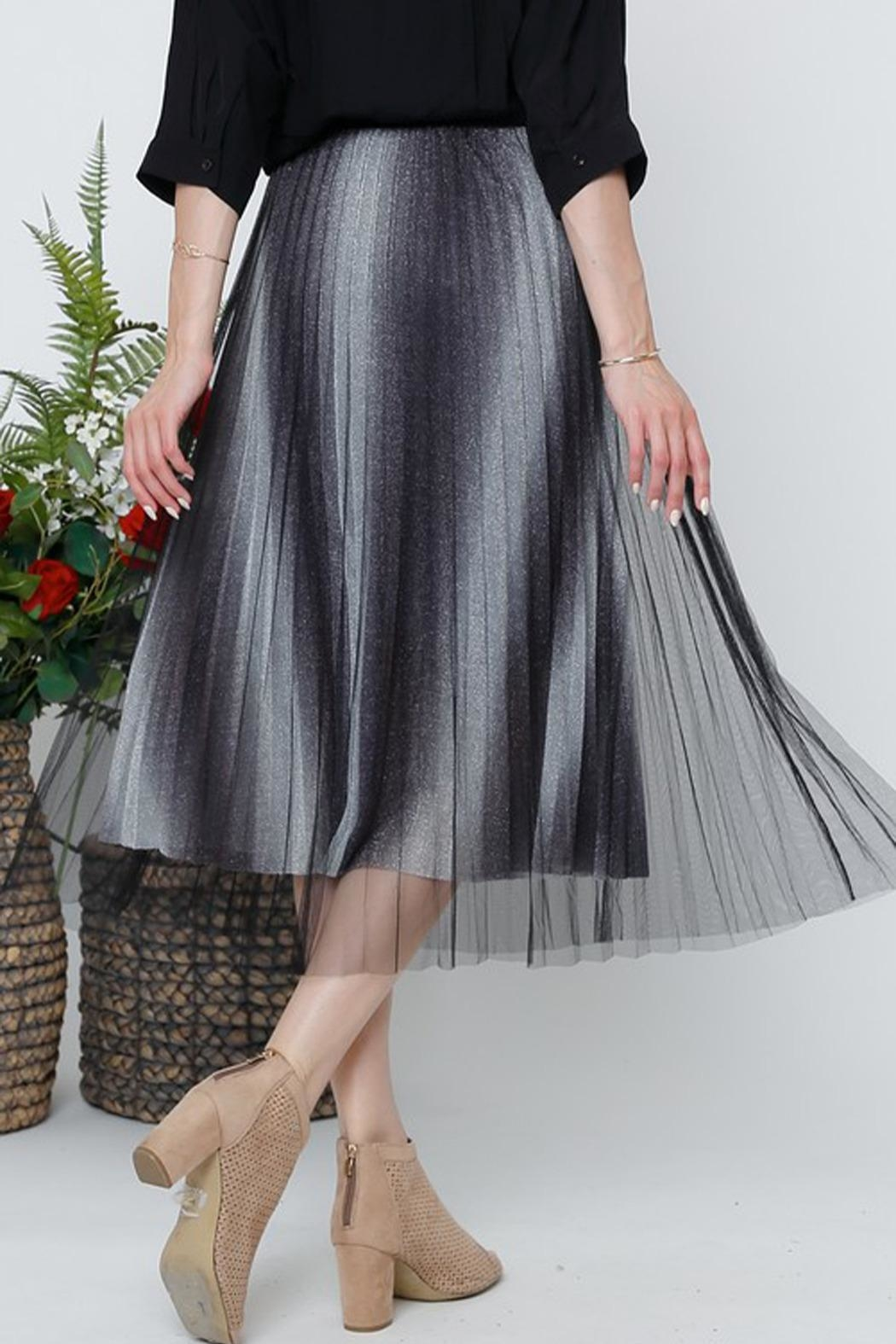 The Vintage Valet Pleated Sparkle Skirt - Front Full Image