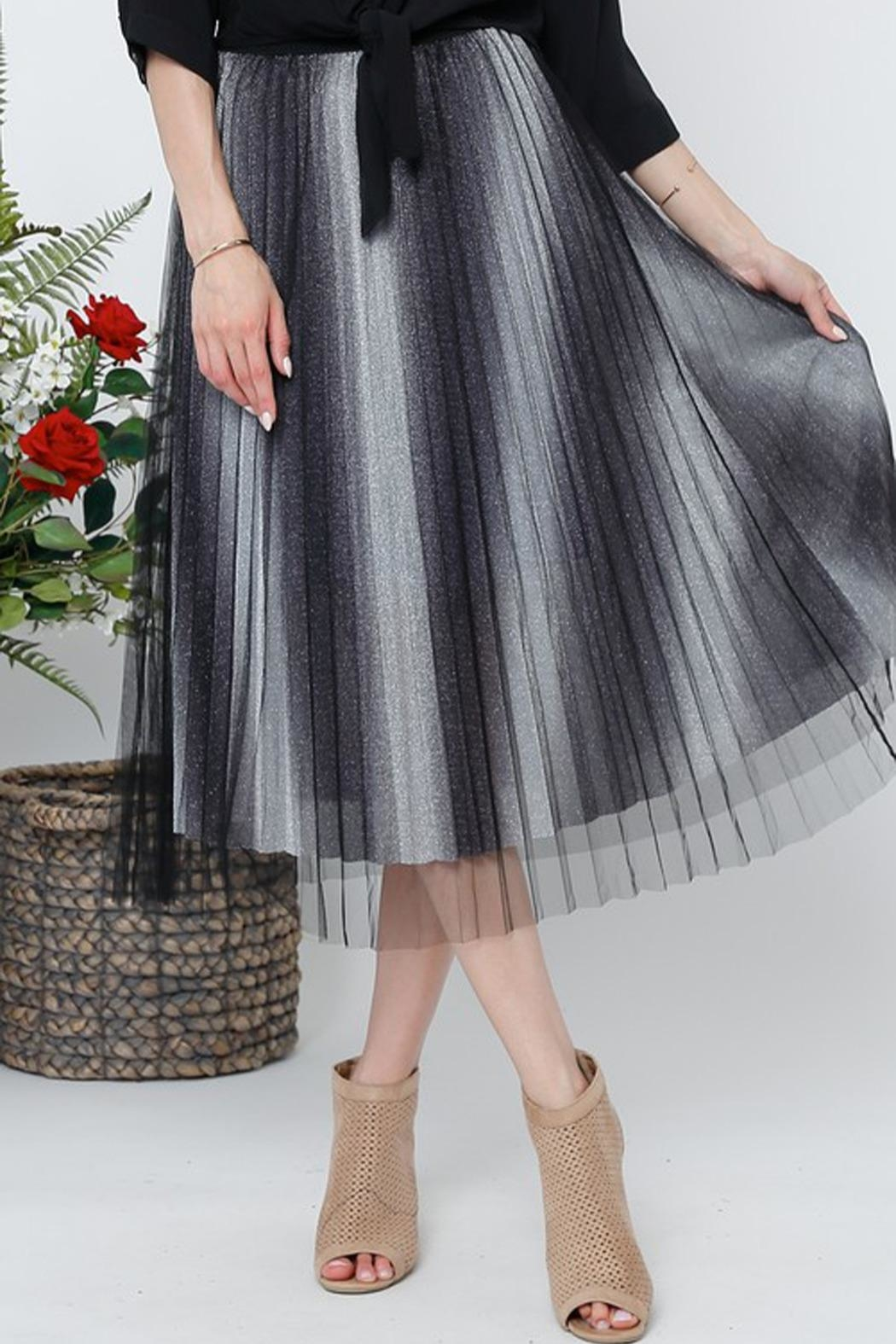 The Vintage Valet Pleated Sparkle Skirt - Main Image