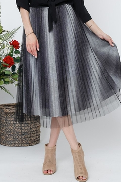 Shoptiques Product: Pleated Sparkle Skirt