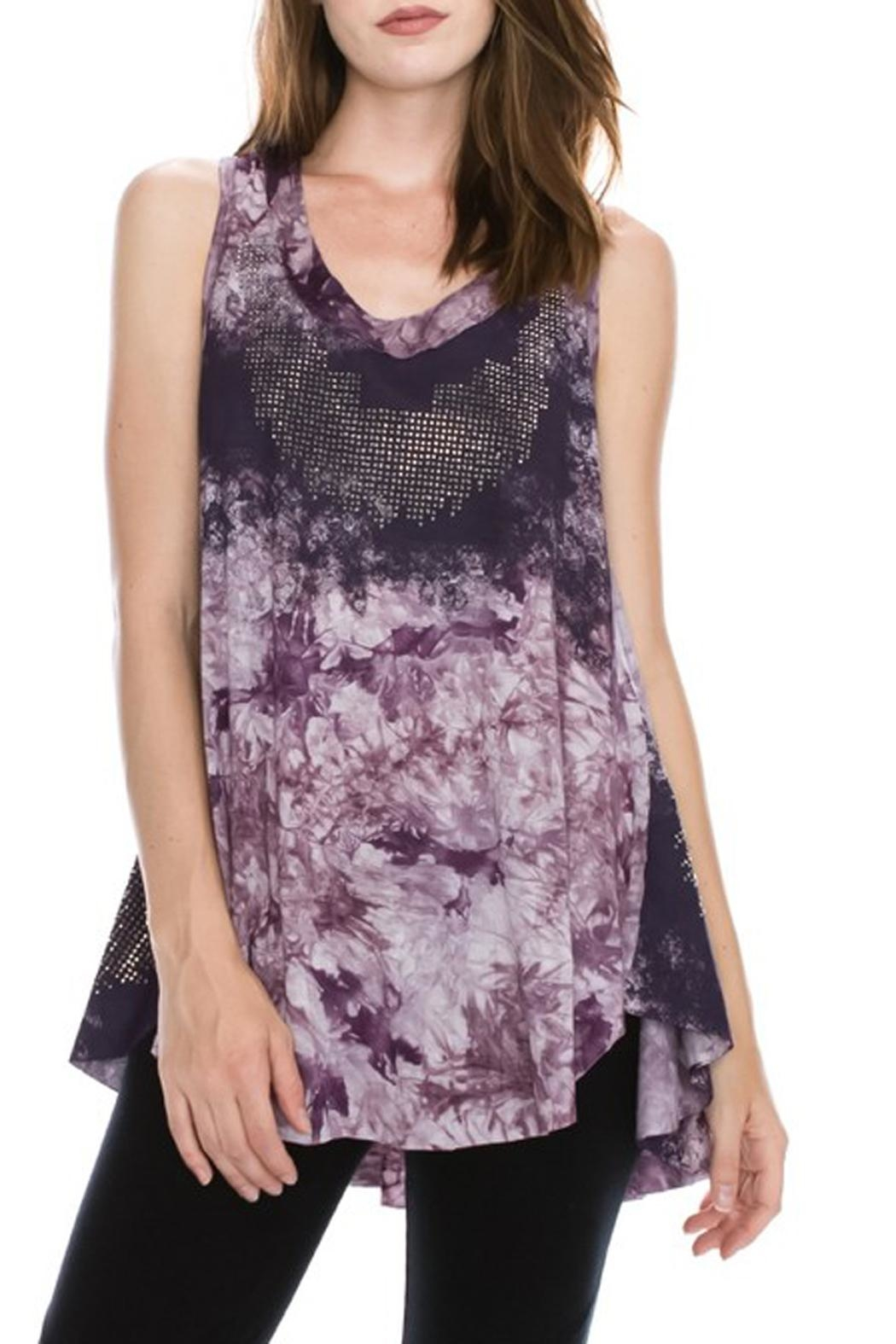The Vintage Valet Purple Rhinestone Tank - Main Image