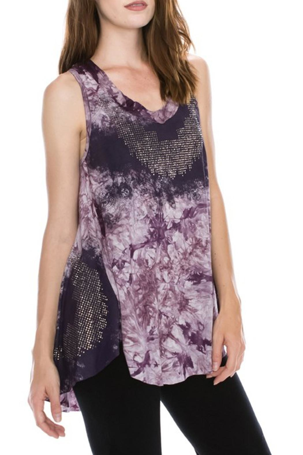 The Vintage Valet Purple Rhinestone Tank - Front Full Image