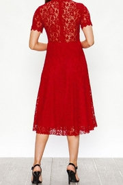 The Vintage Valet Red Lace Dress - Front full body