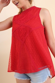 The Vintage Valet Red Lace Tanktop - Product Mini Image