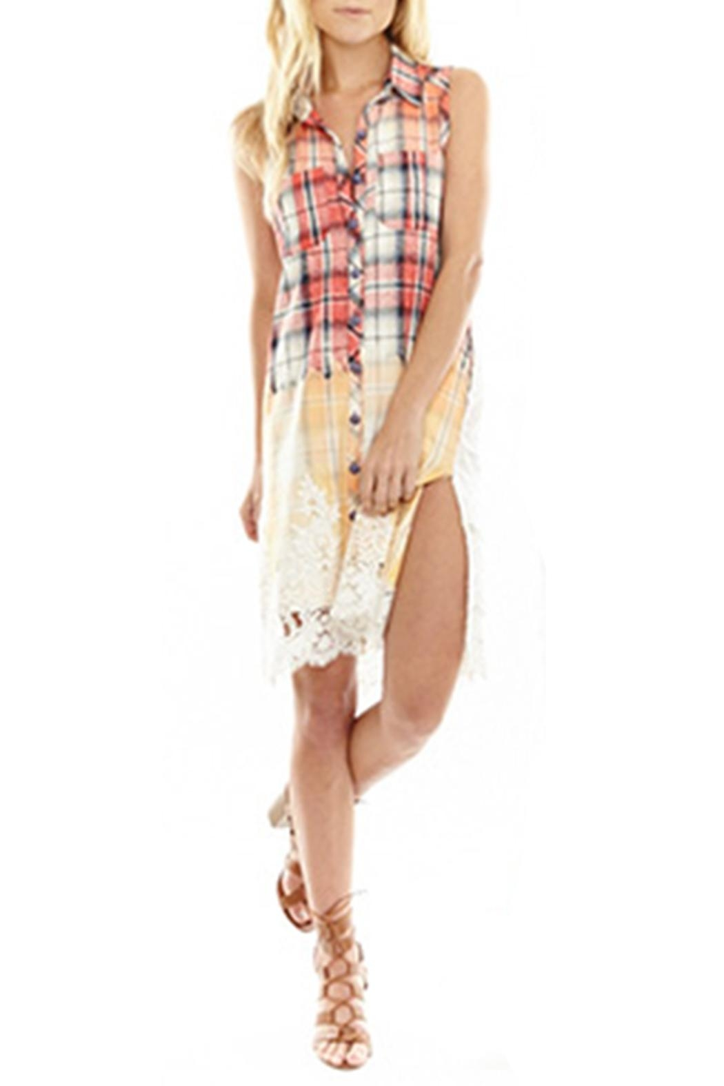 The Vintage Valet Red Plaid Tunic - Main Image