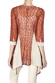 The Vintage Valet Rust Crochet Top - Front full body
