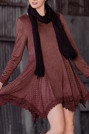 The Vintage Valet Rust Fauxsuede Dress - Product Mini Image