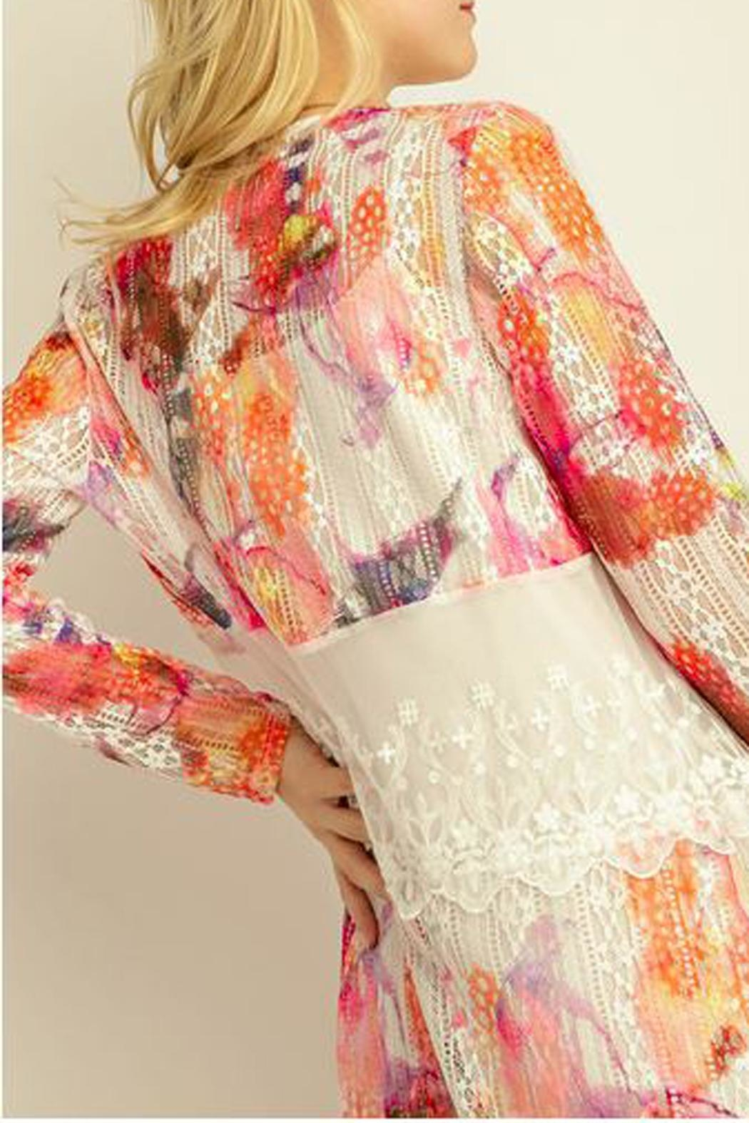 The Vintage Valet Colorful Lace Cardigan - Front Full Image