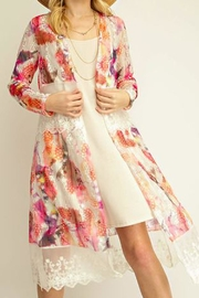 The Vintage Valet Colorful Lace Cardigan - Product Mini Image
