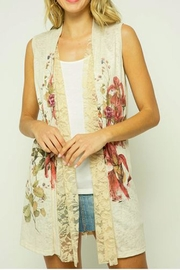 The Vintage Valet Tan Floral Vest - Product Mini Image