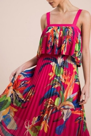 The Vintage Valet Tropical Pleated Dress - Product Mini Image