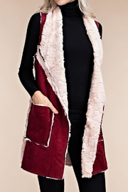 The Vintage Valet Wine Fauxsuede Vest - Product Mini Image