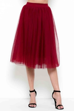 Shoptiques Product: Wine Tulle Skirt