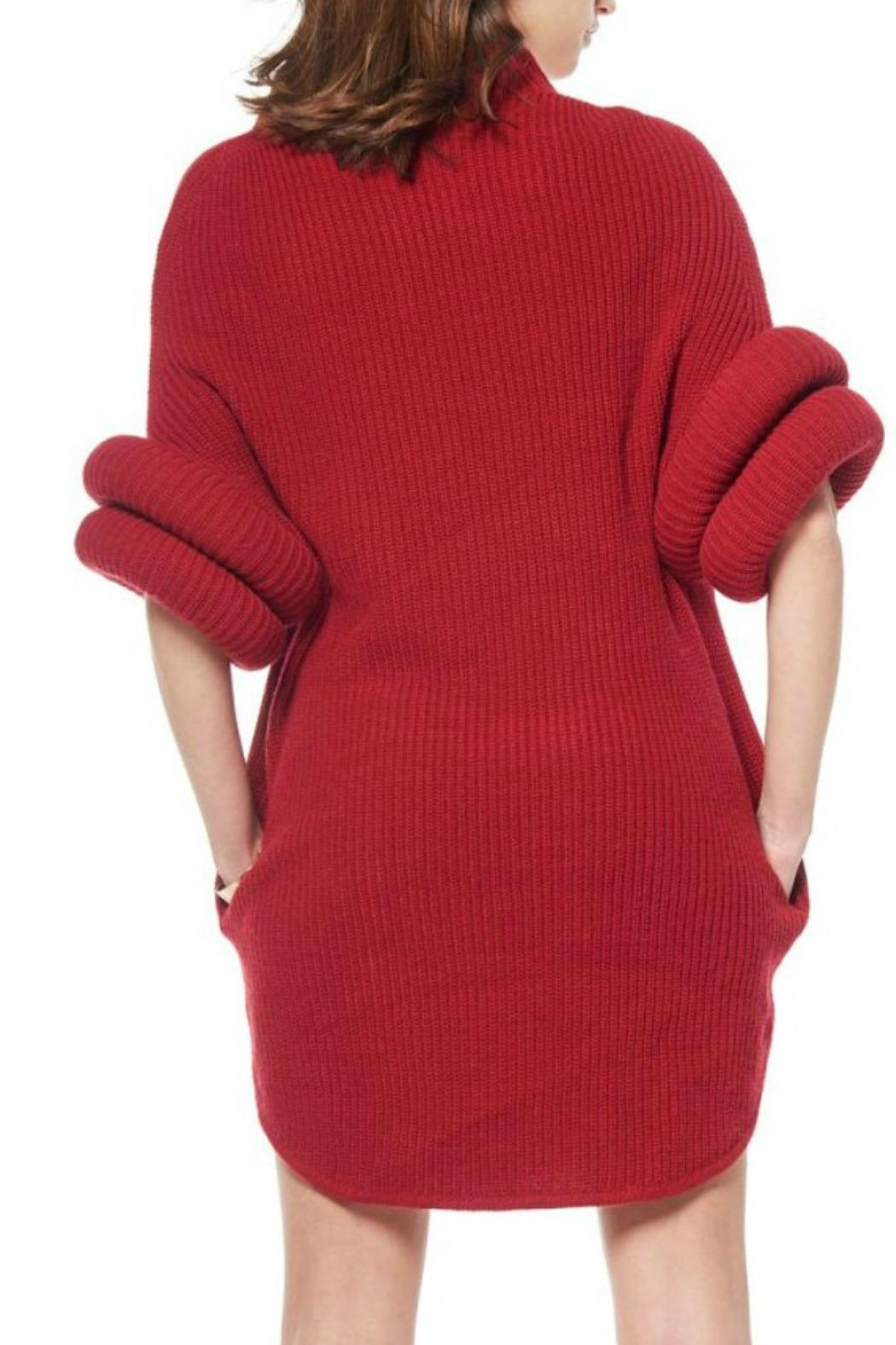 red sweater dresses - Dress Yp