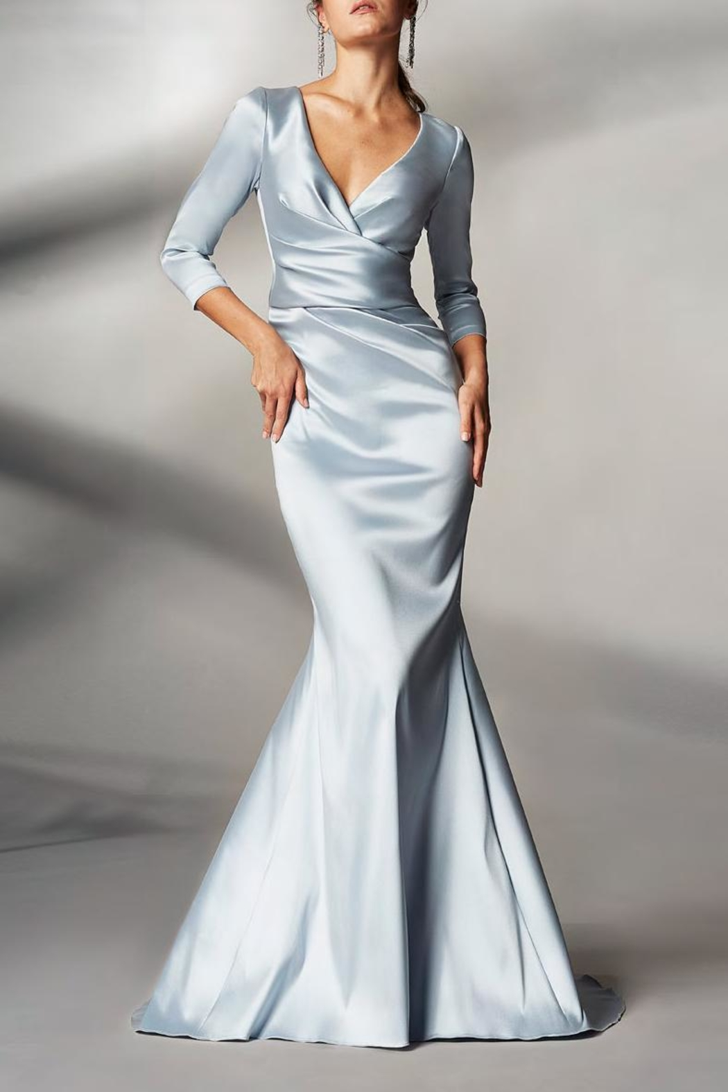 Theia 3/4 Sleeve Gown - Main Image