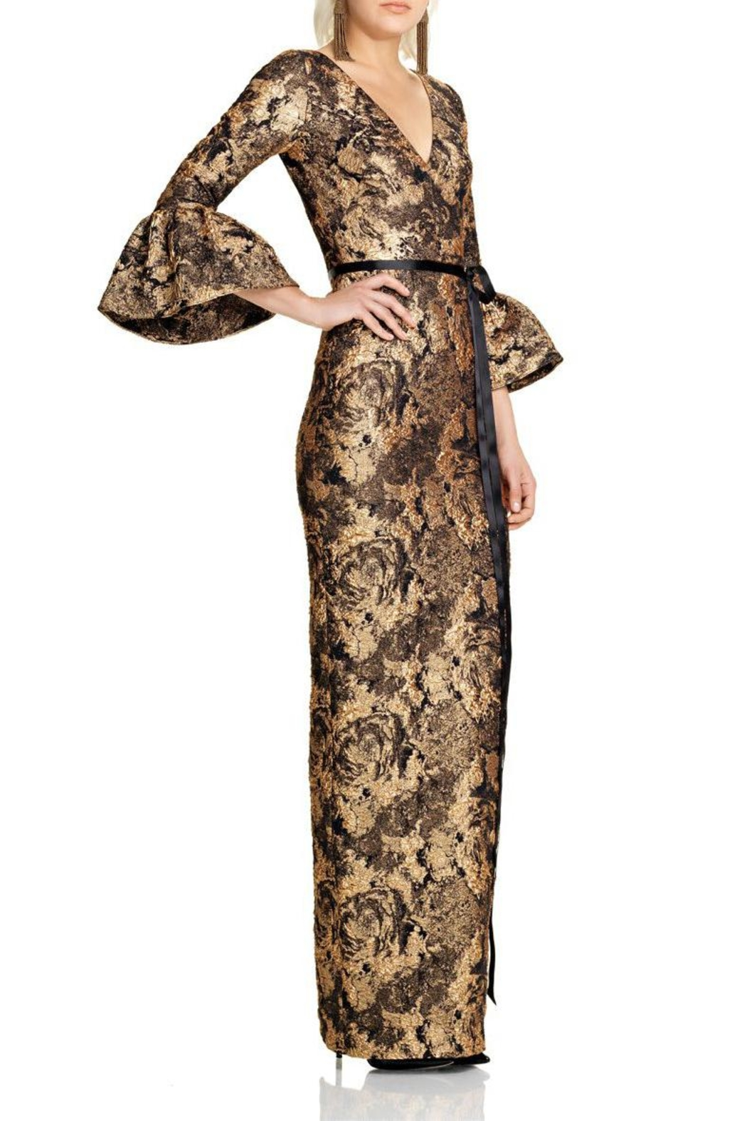 Theia Sleeve Column Gown - Main Image