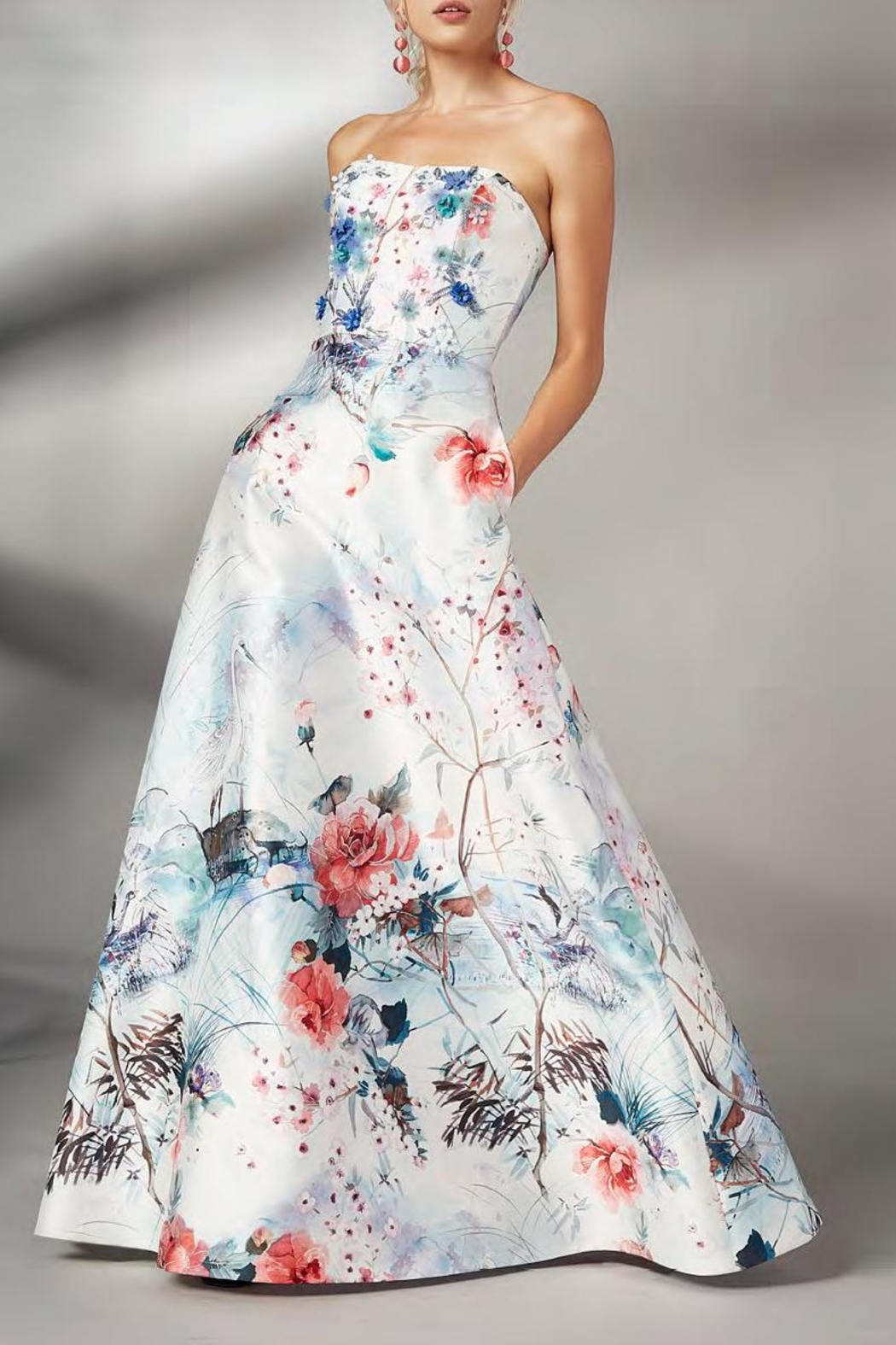 Theia Floral Evening Gown from New Jersey by District 5 Boutique ...