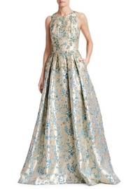 Theia Floral Sleeveless Gown - Product Mini Image