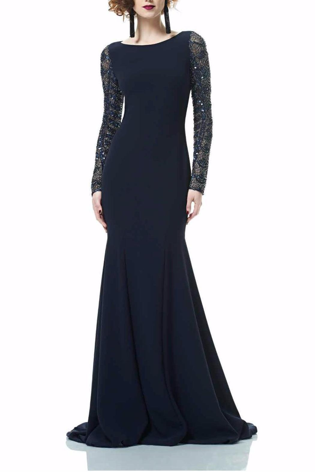 Theia Long Sleeve Gown Front Cropped Image