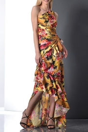 Theia One-Shoulder Floral Gown - Product Mini Image
