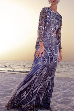 Theia Silver Blue Sequin - Alternate List Image