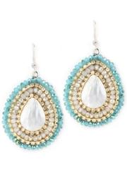 Theia Jewelry Aqua Swarovski Earrings - Product Mini Image