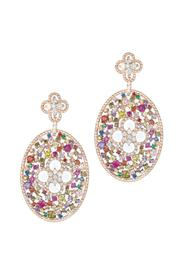 Theia Jewelry Ornate Oval Earrings - Product Mini Image