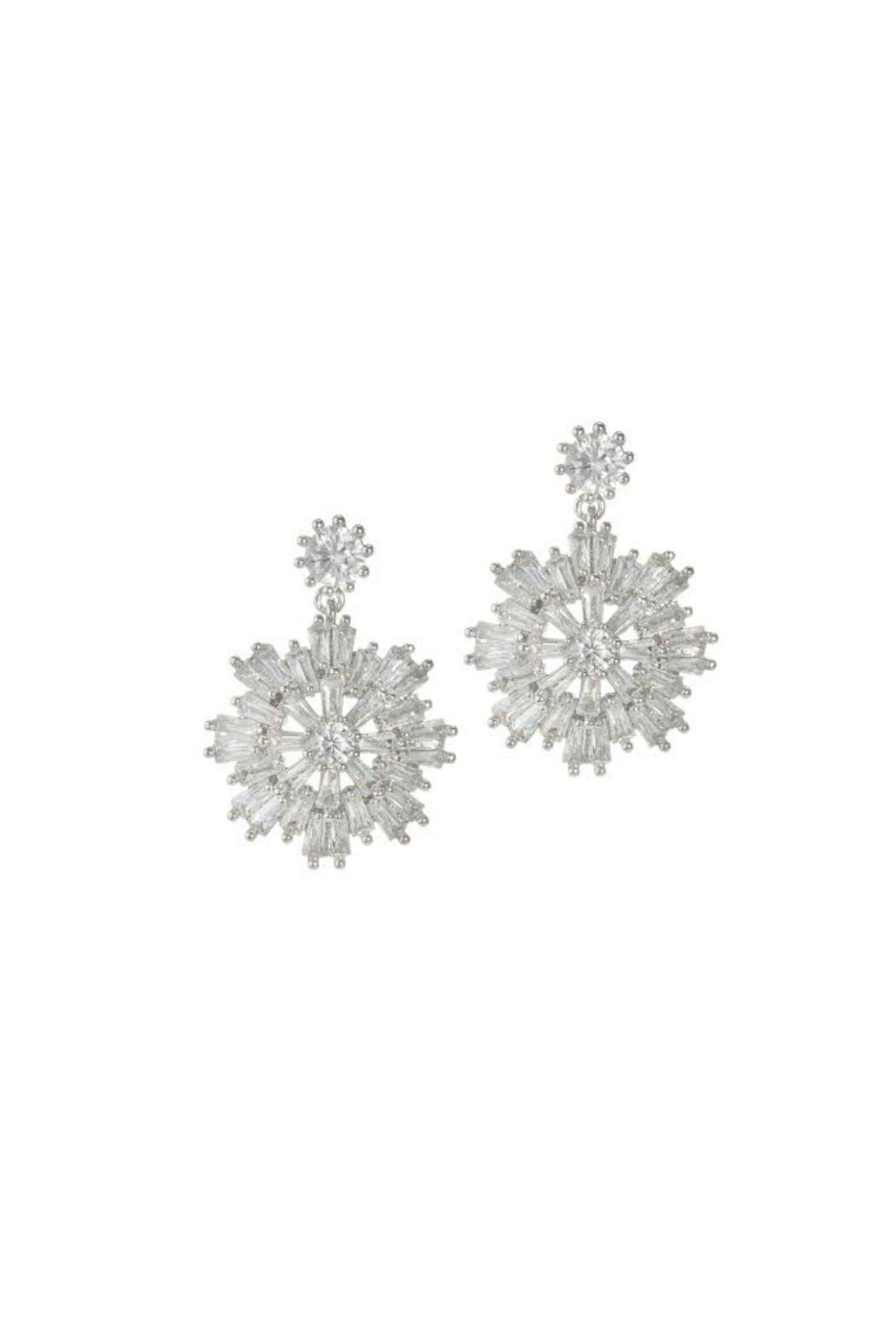Theia Jewelry Snowflake Earrings - Front Cropped Image